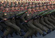 朝鲜步兵方队进入阅兵现场 脏弹部队现身