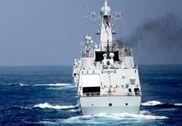 中国神盾舰编队与法军演练 舰载机降落法舰
