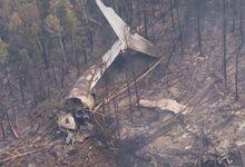 俄坠毁伊尔-76残骸被找到 机体只剩尾翼现场惨烈