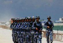 渚碧礁守岛部队巡逻新机场 外延仅用铁丝网防护