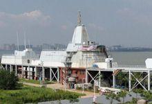 中国陆上航母新进展:舰岛上层被剖开 改动幅度大