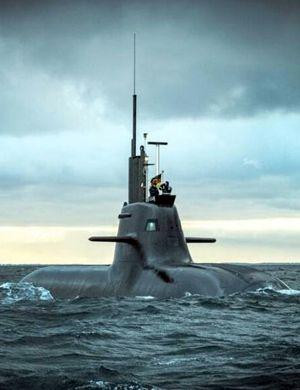 直击德国最先进212级潜艇 流线优美自动化程度高