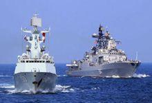 中法两军护卫舰进入南海联合演习 训练编队活动