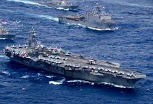 美军在中国周边秀超级舰队 最大规模军演撞期中俄