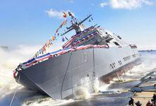 美军第13艘濒海战斗舰下水 被抛进大海方式奇特</h1>        <!-