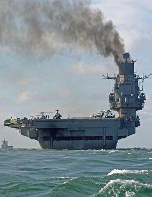 """辽宁舰""""大哥""""过英吉利海峡 浓烟滚滚太空可见"""