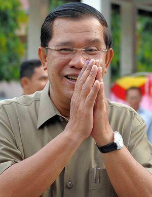 """柬首相:在柬埔寨决不允许升起台湾""""国旗"""""""