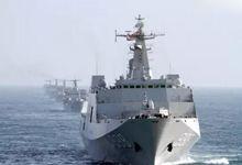 列阵海疆待美航母!中国十艘登陆舰在南海演习