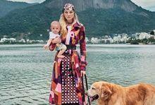 巴西超模卡罗琳与萌娃出镜度假大片阳光温馨