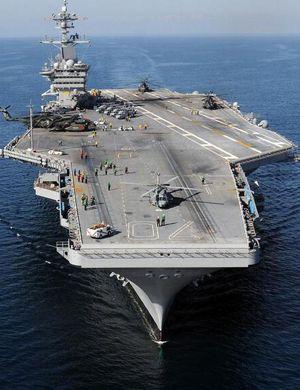 美国卡尔文森号航母抵达釜山 接过围堵中国接力棒