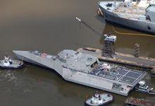 建造速度不比056!美军第16艘LCS濒海舰下水