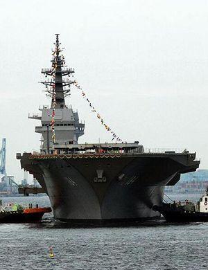 野心不死!日本最大准航母加贺号最新照片曝光
