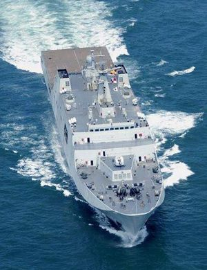 第5艘坞登露出真容:071舰最新工程进展曝光