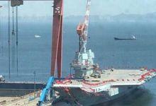 国产航母原来船坞里的水已抽干:可建下一艘了