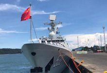 中国海军访菲,杜特尔特女儿码头迎接 欢迎标语亮了</h1>
