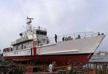 中国设计和技术支持!孟加拉国海警巡逻船下水