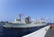 052C和054A出动!中国海军驱护舰编队南海演习