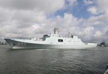 中国首个海外军事基地成立 最大作战舰艇满载起航