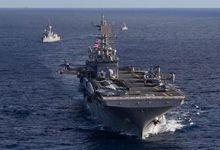 中国军舰正在附近看戏!美澳海军舰艇联合演习