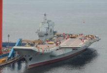 舾装进度神速!国产航母再次拆除舰岛的脚手架