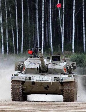 坦克两项半决赛:中国96B夺第一印度T90趴窝退赛