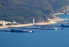 卫星照首次显示中国4艘094战略核潜艇停靠某军港