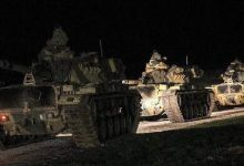 土耳其集结重兵进军叙利亚 坦克群深夜出击