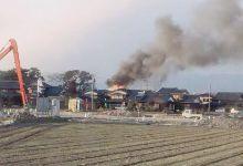 日本AH64阿帕奇武装直升机坠落幼儿园 冒出浓烟