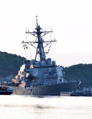 纳税人很生气!美海军修复被撞驱逐舰要花近4亿