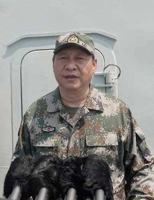 习近平南海阅兵:把人民海