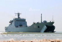 登陆台湾是必备科目!我北海舰队074A登陆舰登岛演习