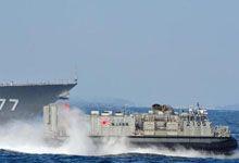 想来夺钓鱼岛?日本海自LCAC气垫艇实战训练
