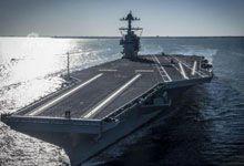 中国海军要抓紧啊!美公布福特号核动力航母建造效果图