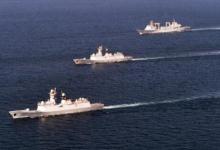 告别战友!我海军两支护航编队4