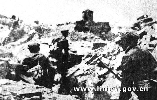 临汾旅打击敌人,控制外壕